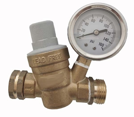 Adjustable Water Pressure Regulator Lead Free for RVs Soaker